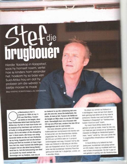 Stef Bos Interview met ZA magazine Vrouekeu